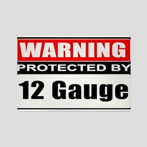 Warning 12 Gauge Rectangle Magnet