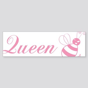 queenbee_pink-01 Sticker (Bumper)