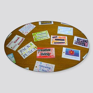 Assortment of Affirmation Cards Sticker (Oval)