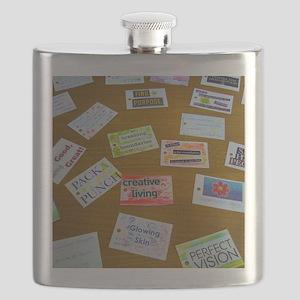 Assortment of Affirmation Cards Flask