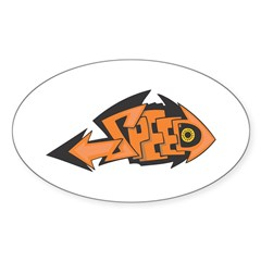 Graffiti Speed Graphic Oval Decal
