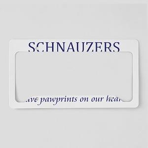 2-FIN-schnauzer-pawprints-CRO License Plate Holder
