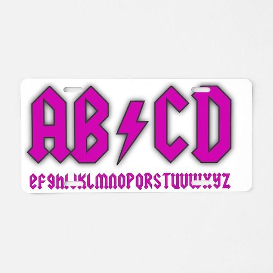 ab-cd-girl Aluminum License Plate