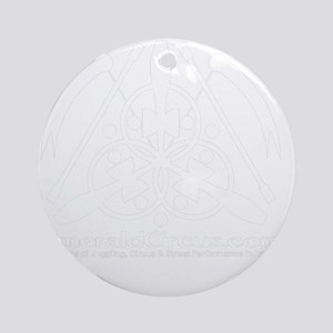 Emblem-Transparent-White Round Ornament
