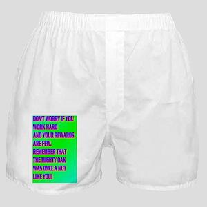DON'T WORRY IF YOU WORK HARD(mini pos Boxer Shorts