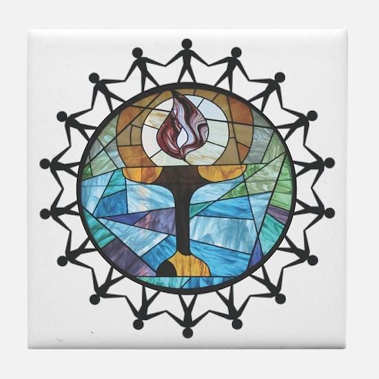 nurture-change better Tile Coaster