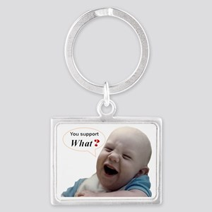 Abortion2 NOT AN OPT... Landscape Keychain