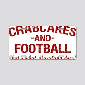2-Crabcakes-and-Football Aluminum License Plate