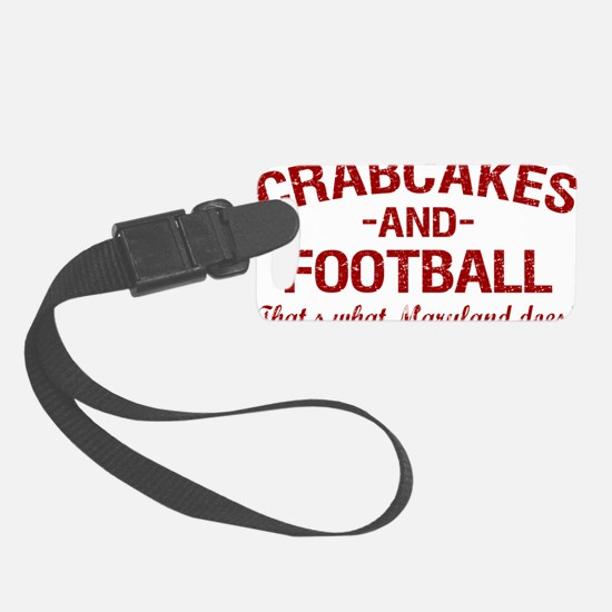 2-Crabcakes-and-Football Luggage Tag