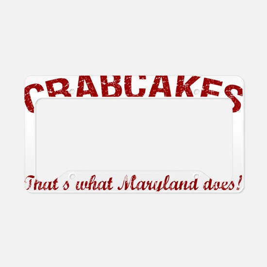 2-Crabcakes-and-Football License Plate Holder