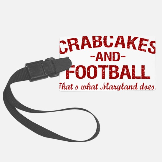 2-Crabcakes-and-Football Large Luggage Tag