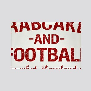 2-Crabcakes-and-Football Rectangle Magnet