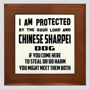 I am protected by the good lord and Ch Framed Tile