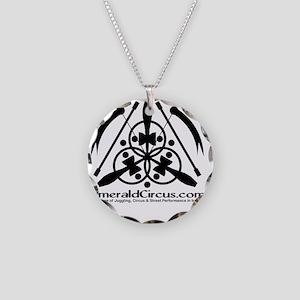 Emblem-Transparent-Black Necklace Circle Charm
