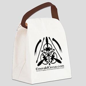Emblem-Transparent-Black Canvas Lunch Bag