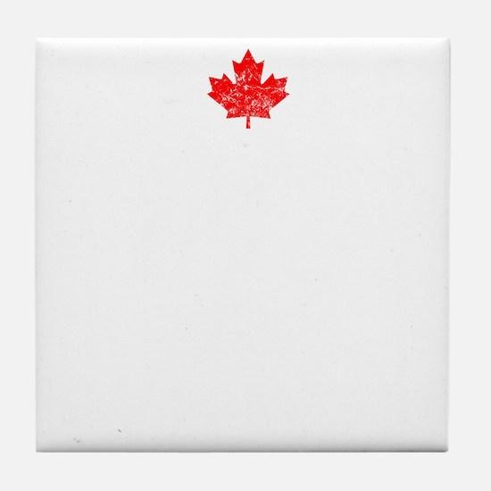 Canadian Thing -dark Tile Coaster
