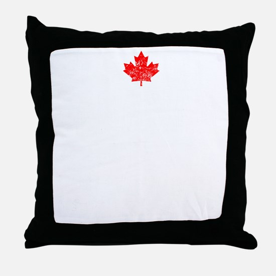 Canadian Thing -dark Throw Pillow