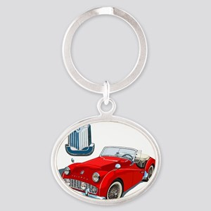 TR3-RED-10 Oval Keychain