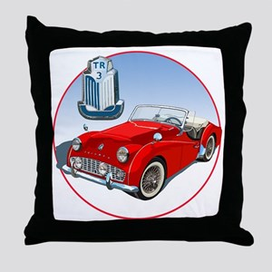 TR3-RED-C8trans Throw Pillow