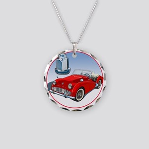 TR3-RED-C8trans Necklace Circle Charm