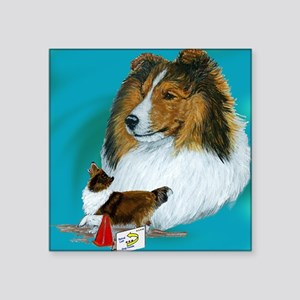 """sable rally Square Sticker 3"""" x 3"""""""