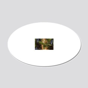 3-Garden Setting 20x12 Oval Wall Decal