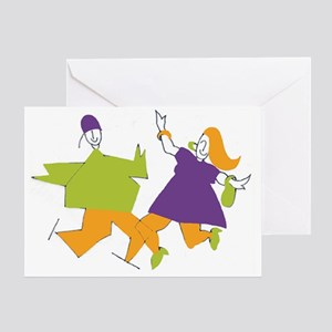 2 figures color1 no logo 10x Greeting Card