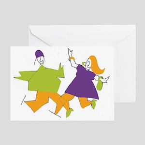 2 figures color1 no logo8x Greeting Card