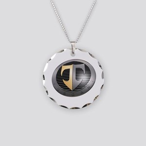 2-TuscaniLargeAngle Necklace Circle Charm