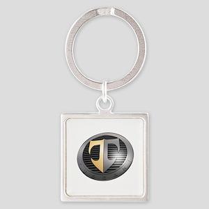 2-TuscaniLargeAngle Square Keychain