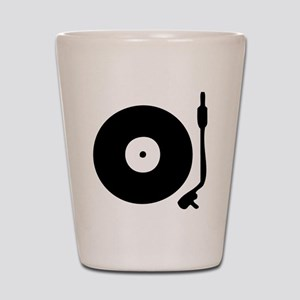 Vinyl Record Turntable Shot Glass