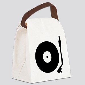Vinyl Record Turntable Canvas Lunch Bag