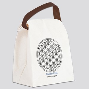 3-FlowerofLife Canvas Lunch Bag