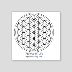 "3-FlowerofLife Square Sticker 3"" x 3"""