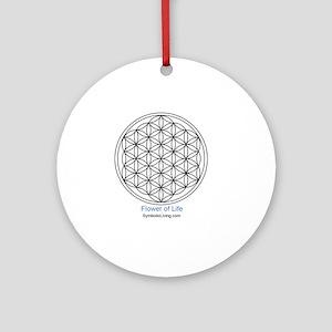 3-FlowerofLife Round Ornament