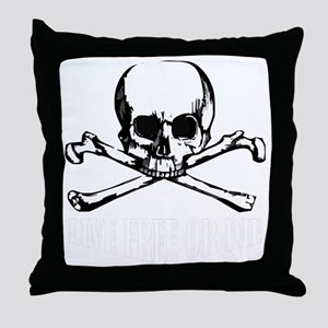 Skull (Live Free or Die) Throw Pillow