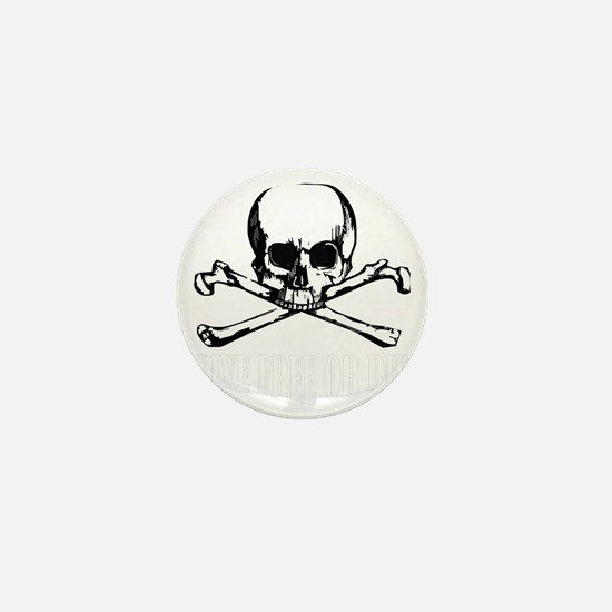 Skull (Live Free or Die) Mini Button