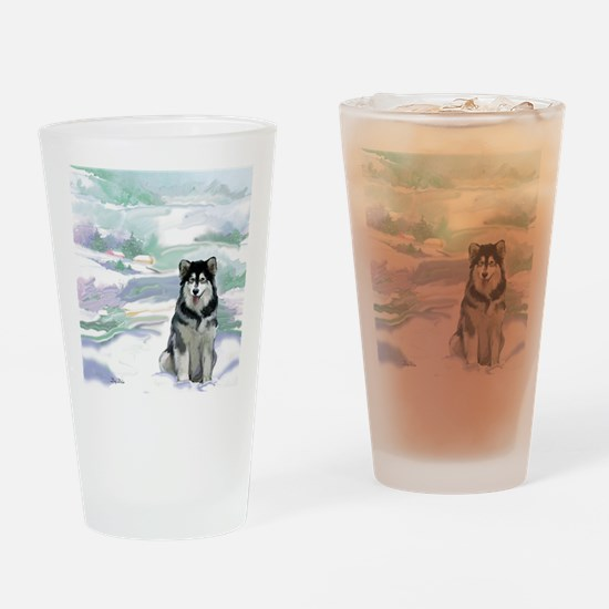 alaskan_malamute2_CPblanket Drinking Glass