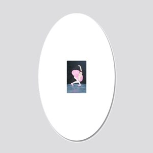 pinkdancer 20x12 Oval Wall Decal
