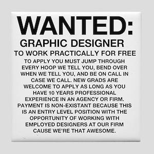 Wanted_Tee Tile Coaster