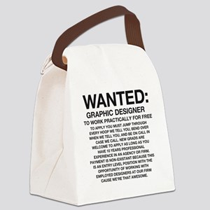 Wanted_Tee Canvas Lunch Bag