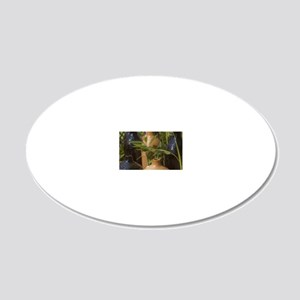 Garden Setting 20x12 Oval Wall Decal