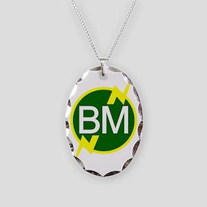 Best-Man-logo-(dark-shirt) Necklace Oval Charm