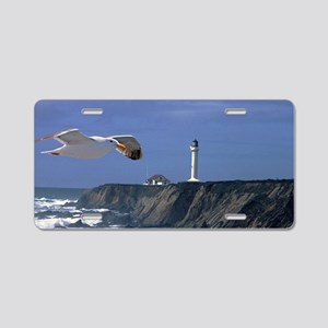 (1) lighthouse & seagull Aluminum License Plate