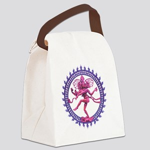 Natabara purple Canvas Lunch Bag