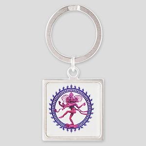 Natabara purple Square Keychain