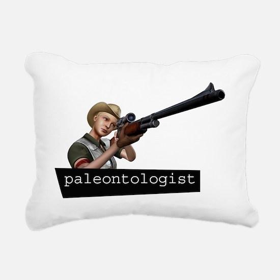 paleontologist Rectangular Canvas Pillow
