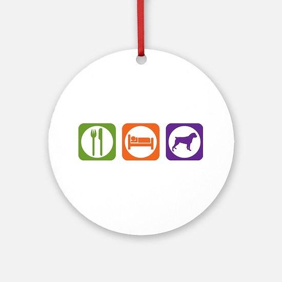 Eat Sleep Rottweiler Ornament (Round)