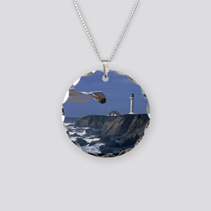 (4) lighthouse  seagull Necklace Circle Charm