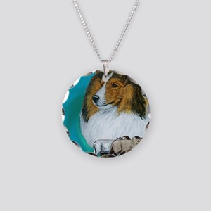 sable herding Necklace Circle Charm
